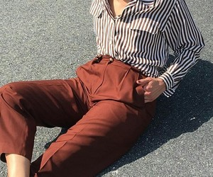 blouse, brown, and cloth image