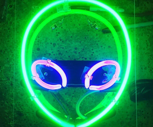 alien, green, and neon image