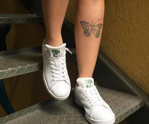 girl, butterfly, and tattoo image