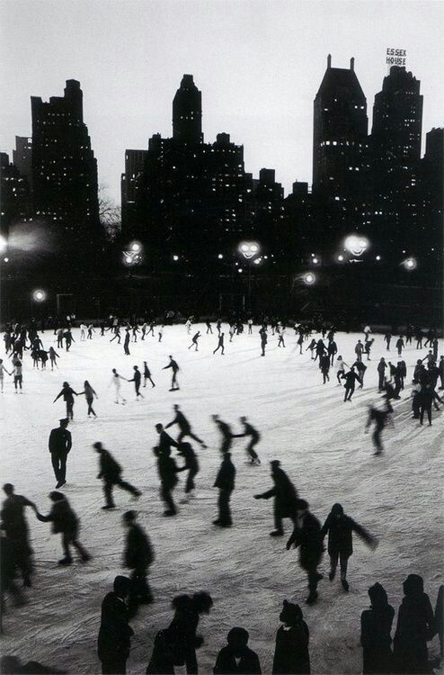 winter, black and white, and city image