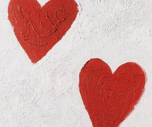 red, hearts, and love image