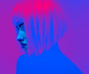 neon, art, and pink image