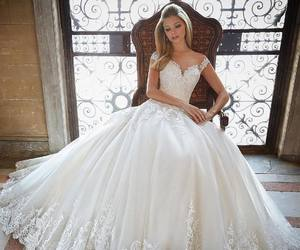 ball gown, blonde, and bride image