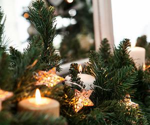 candle, christmas, and lights image