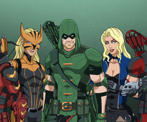 Arsenal, DC, and team arrow image