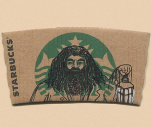 harry potter, starbucks, and cool image