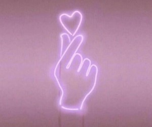 aesthetic, heart, and neon image