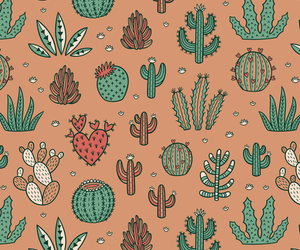cacti, pattern, and succulent image