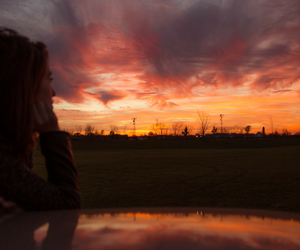 sunset, sky, and tumblr image