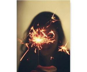 cool, sparks, and birthday image