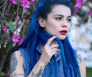 blue, blue dreads, and blue hair image