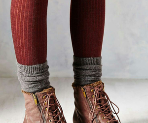 fashion, boots, and socks image