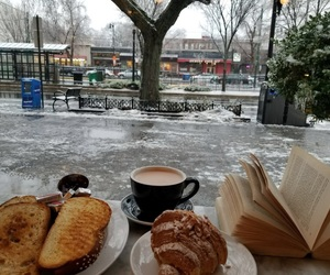 book, winter, and hotchocolate image