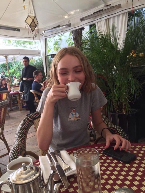 model, lily rose depp, and indie image