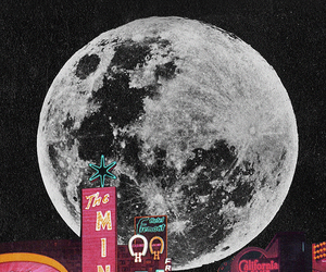 moon, city, and background image