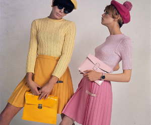 fashion, 60s, and pink image