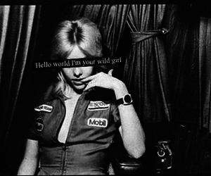Cherie Currie, the runaways, and black and white image