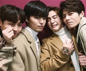 band, korean boys, and the rose image