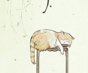 background, cat, and japanese image