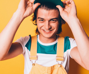 joe keery, stranger things, and yellow image