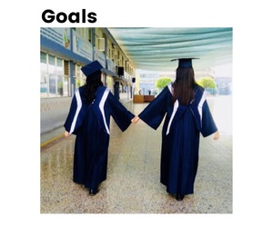 followers, goals, and graduation image