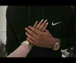 hand, nails, and nike image