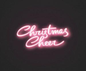 christmas, neon, and wallpaper image