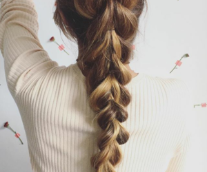 braids, hair, and pony tail image