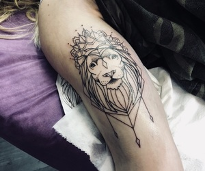 lion, tattoo, and lions image