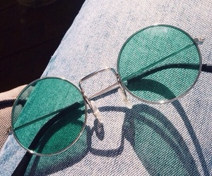 glasses, green, and vintage image