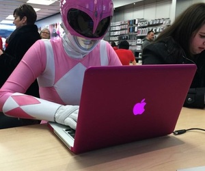 pink, apple, and power ranger image