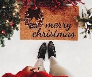 boots, christmas, and merry christmas image
