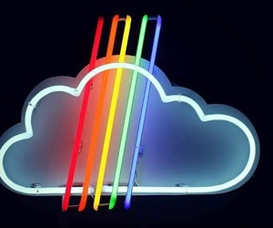 cloud, lights, and neon image