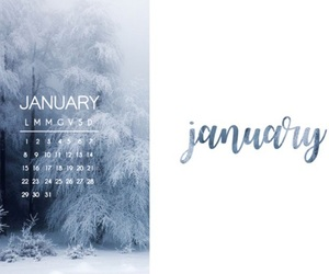 january, winter, and 2018 image