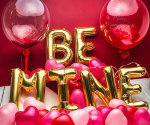 be mine, red, and valentine image