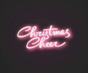 christmas, neon, and wallpaper image