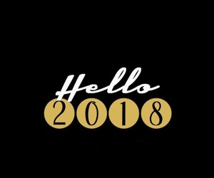 black, gold, and hello 2018 image