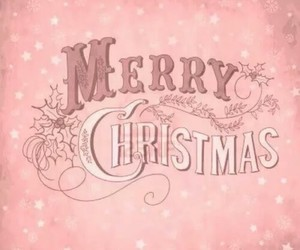 christmas, merry christmas, and pink image