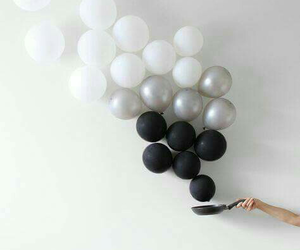 black&white, love, and ballon image