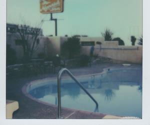 motel, pool, and retro image