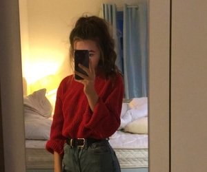 girl, indie, and outfit image