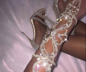 shoes, diamond, and luxury image