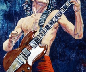 ac dc, rock art, and angus young image