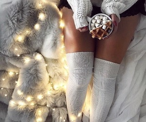 christmas, food, and socks image