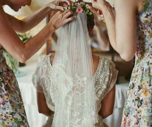 wedding, bride, and marriage image