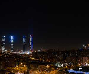 madrid, night, and Towers image