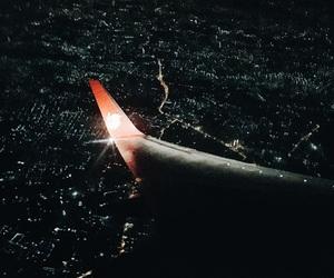 aeroplane, night, and plane image