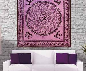 hipster, home accessory, and tapestry image