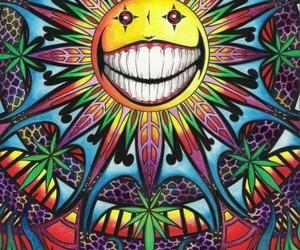 weed, trippy, and marijuana image