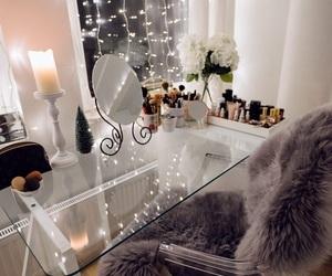 blogger, desk, and lights image